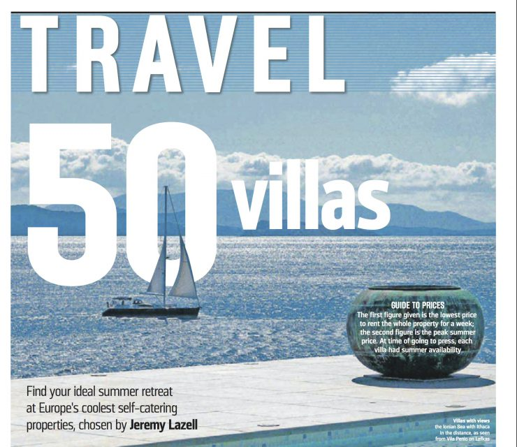 Sunday Times, 26th February, Discerning Collection, 50 Best Villas